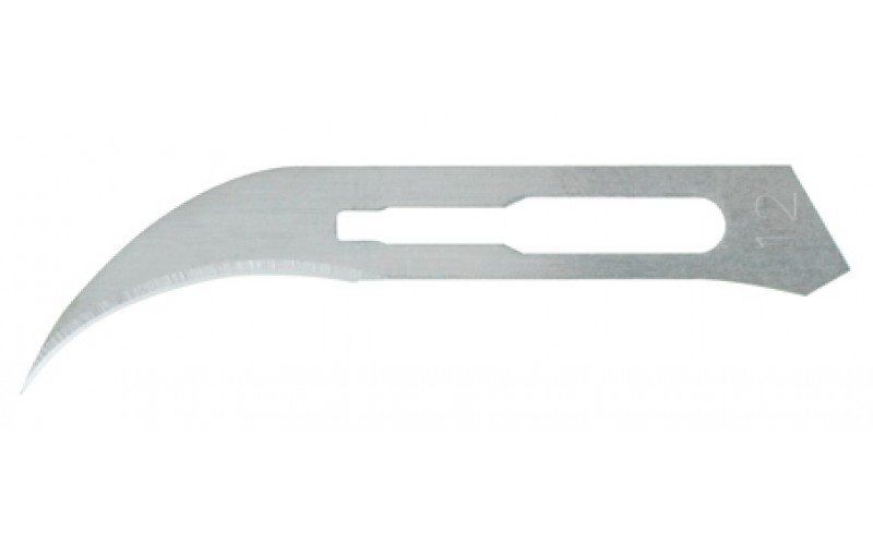 4-112 Carbon Steel Sterile Surgical Blades no. 12