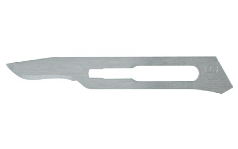 4-115 Carbon Steel Sterile Surgical Blades no. 15