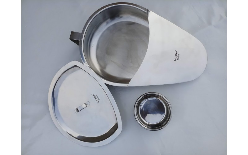 620-200-01 Bed Pan with Lid - Stainless Steel