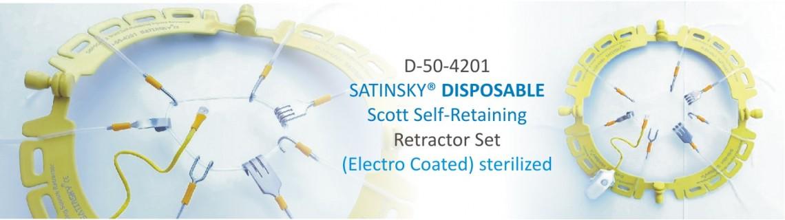 DISPOSABLE Scott Self-Retaining Retractor Set