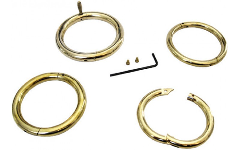 "VI-822604 Bull Rings Brass ring 7/16"" x 3 1/2"""