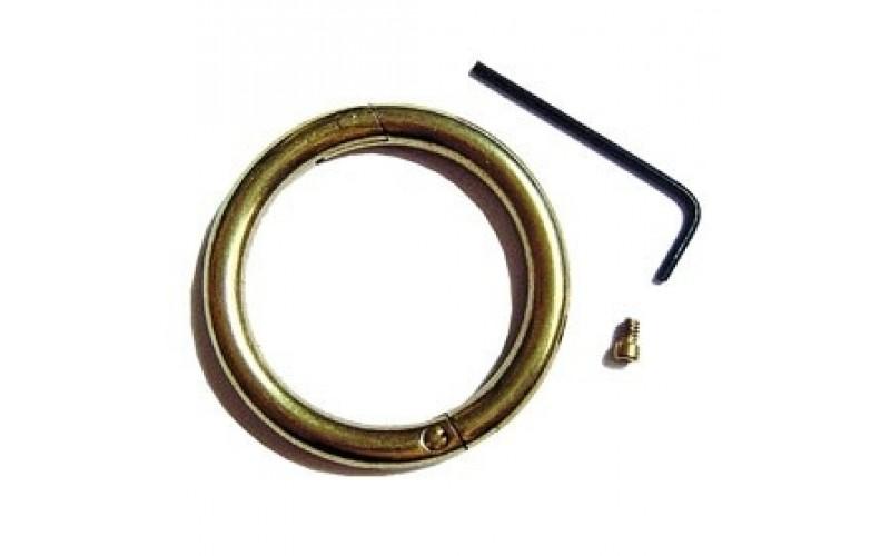 "VI-822608 Bull Ring - Brass - Medium 3"" X 3/8"""
